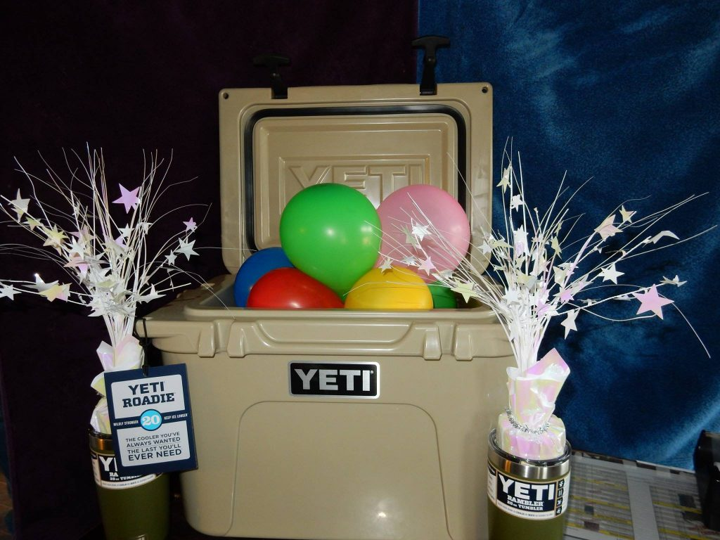 Yeti cooler and tumblers