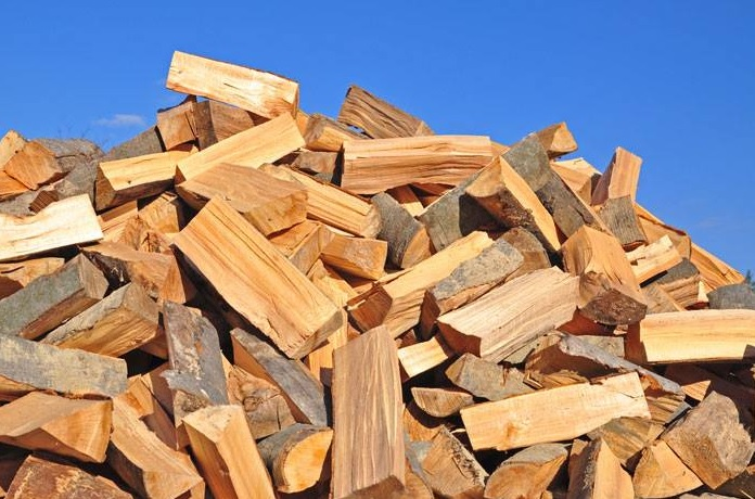 Stacked Firewood At Ju0026J Nursery, Spring, TX And Madison Gardens Nursery,  Spring,