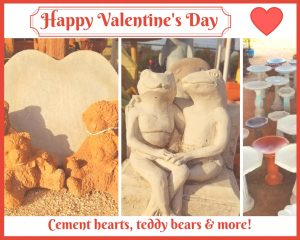 Valentine cement statues