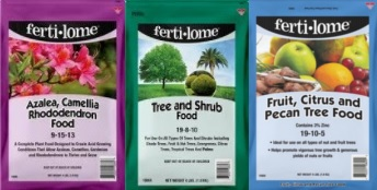 Fertilizers for your azaleas, citrus trees, trees and shrubs!