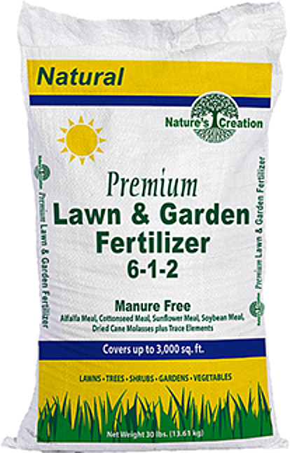 Nature's Creation Premium Lawn & Garden Fertilizer 6-1-2