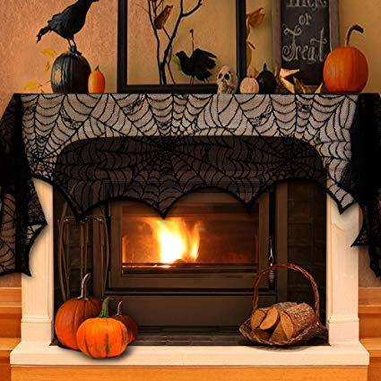 Decorate your fireplace for the fall season.