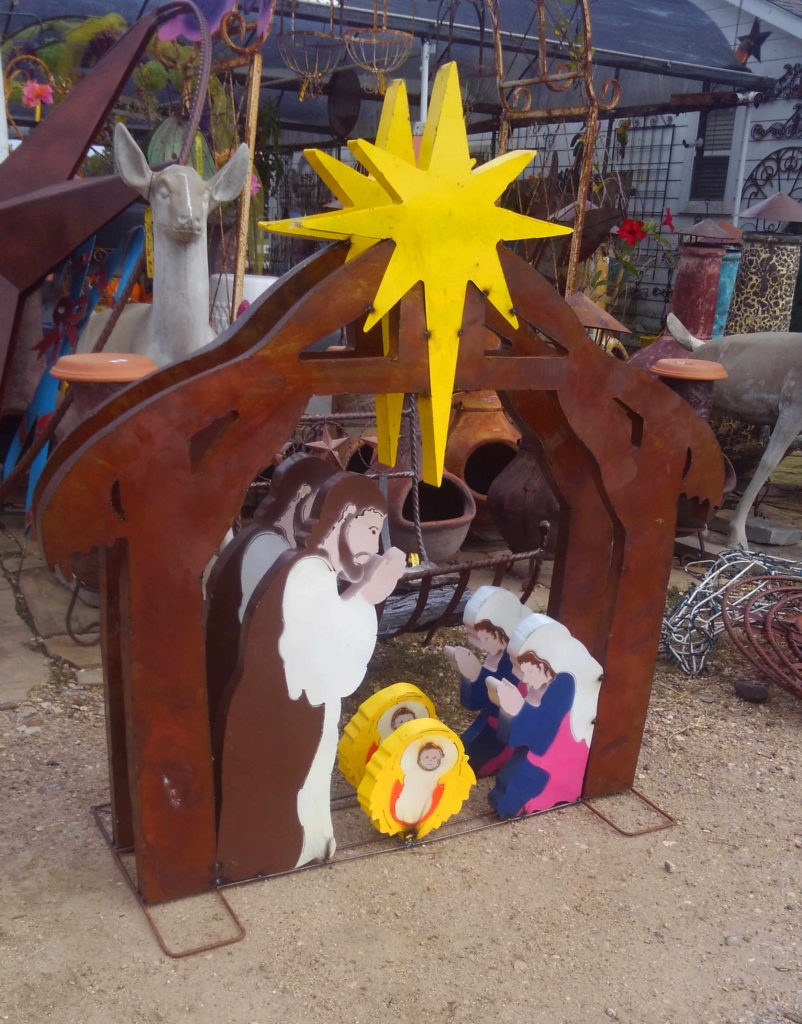 Metal Nativity Scene for your front yard!