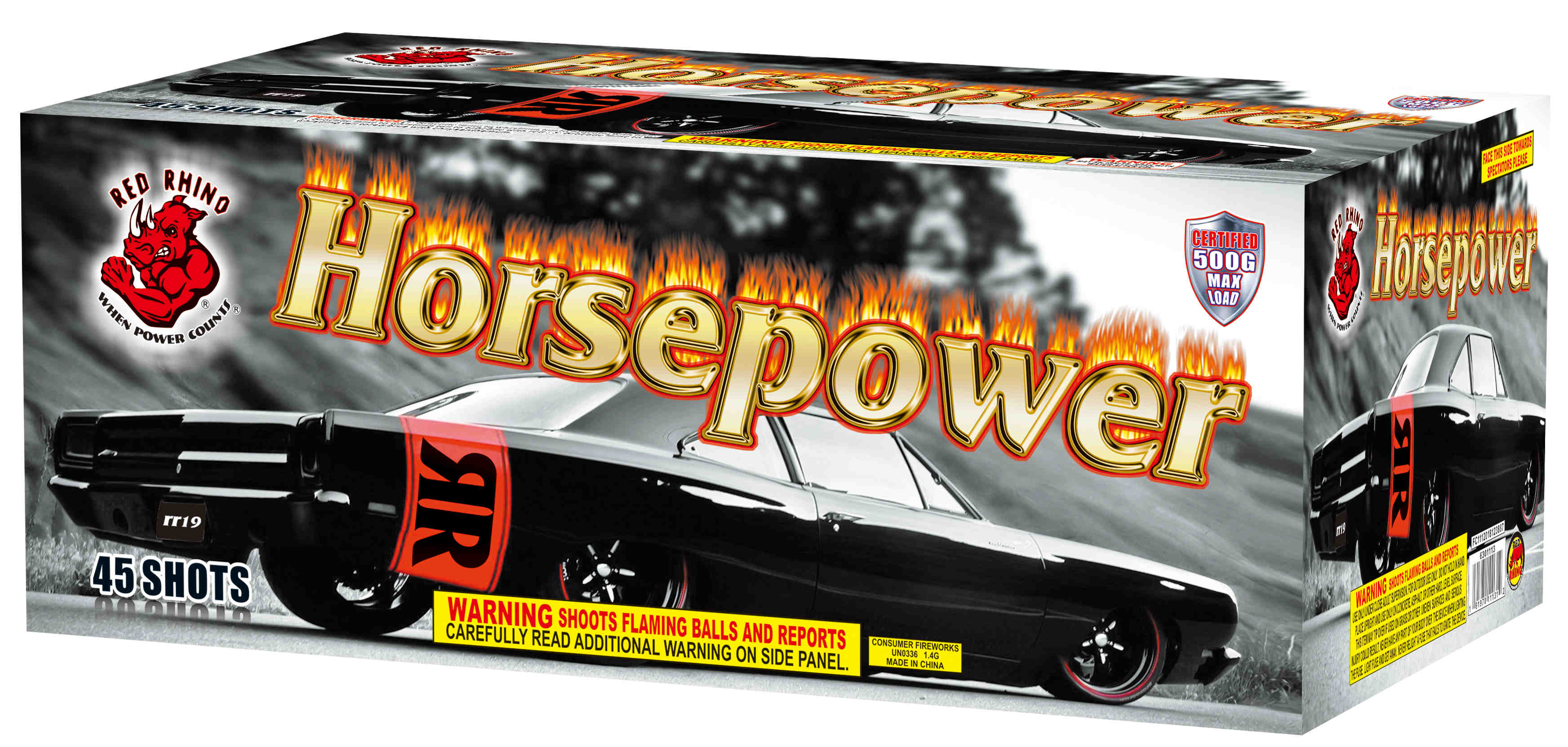Horsepower - 500 grams of power! Light it up!