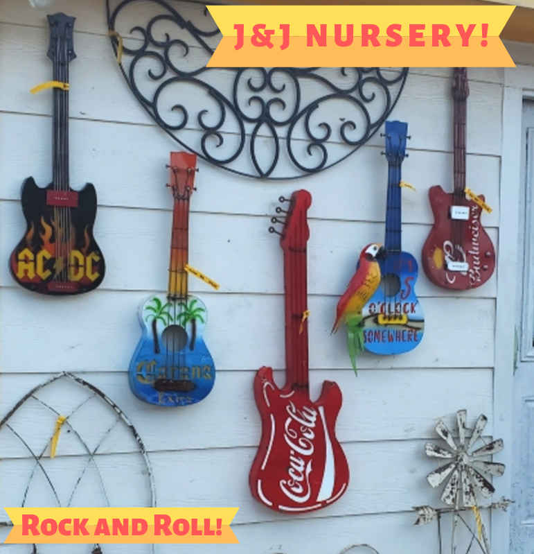 Rock and Roll Guitar Metal Home and Garden Decor!