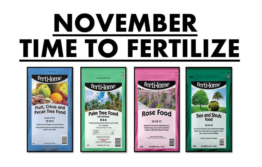 November fertilizers for beautiful, healthy plants!