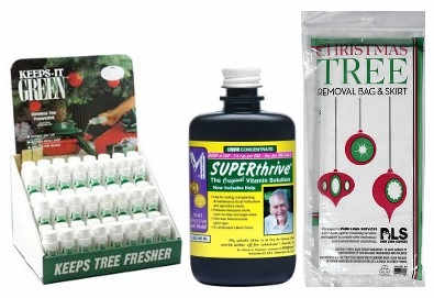 Keeps-It-Green and SUPERthrive to keep your tree green!