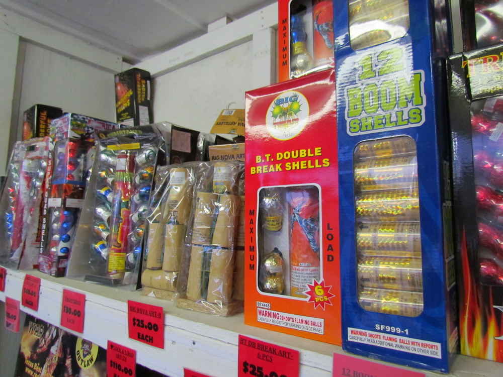 Fireworks artillery shells! Here them go boom as they light up the sky!