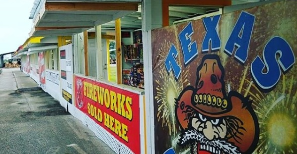 Fireworks stands at J&J Nursery, Spring, TX!