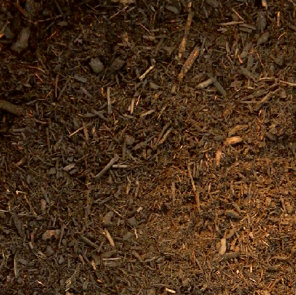 Hardwood Mulch. We carry mulch in 3 colors, red, black and undyed hardwood. We also have certified kiddie cushion which is a light brown.