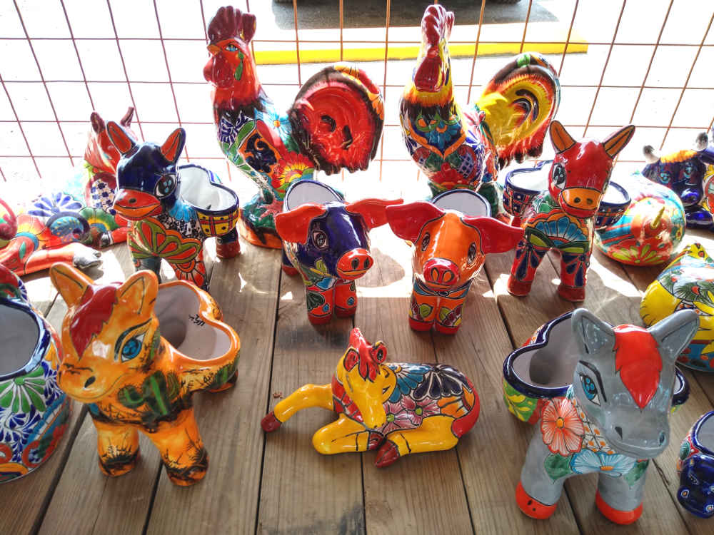 Talavera pottery of horses, donkeys, burros, piglets, roosters and more!