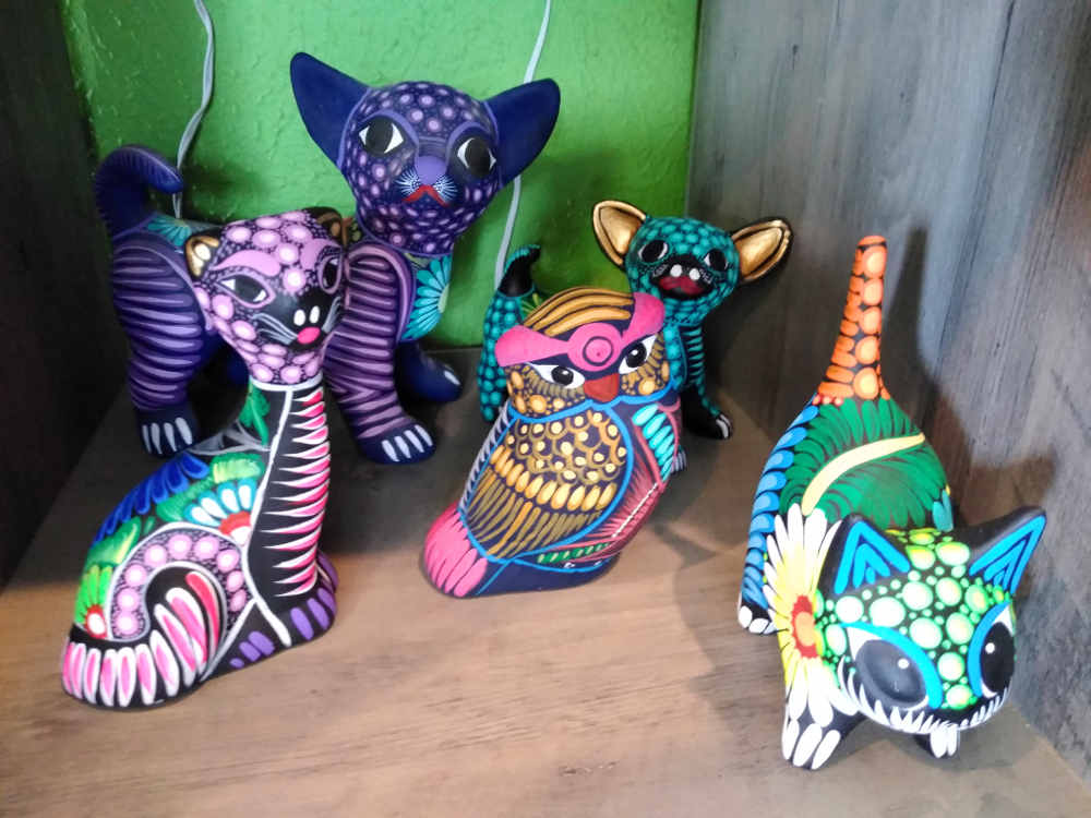 Talavera Cats, Dogs and Owl!