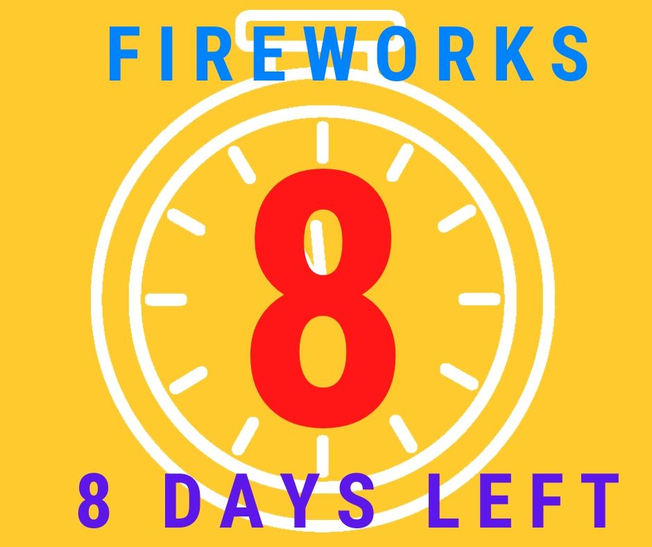 8 days left to buy fireworks at J & J Nursery!