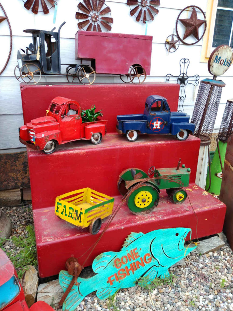 Antique style metal trucks father's day gifts for dad!