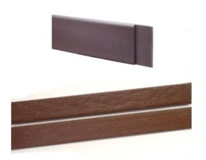 Dark Brown and Brown Polyboard edging.