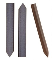 Brown and Dark Brown Plastic Stakes