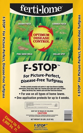 F-Stop Fungicide Granules (20 lbs) Covers 5,000 square feet.