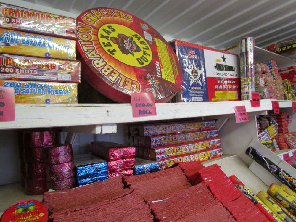 Firecrackers and large Firecracker Roll at J & J Nursery, Spring, TX