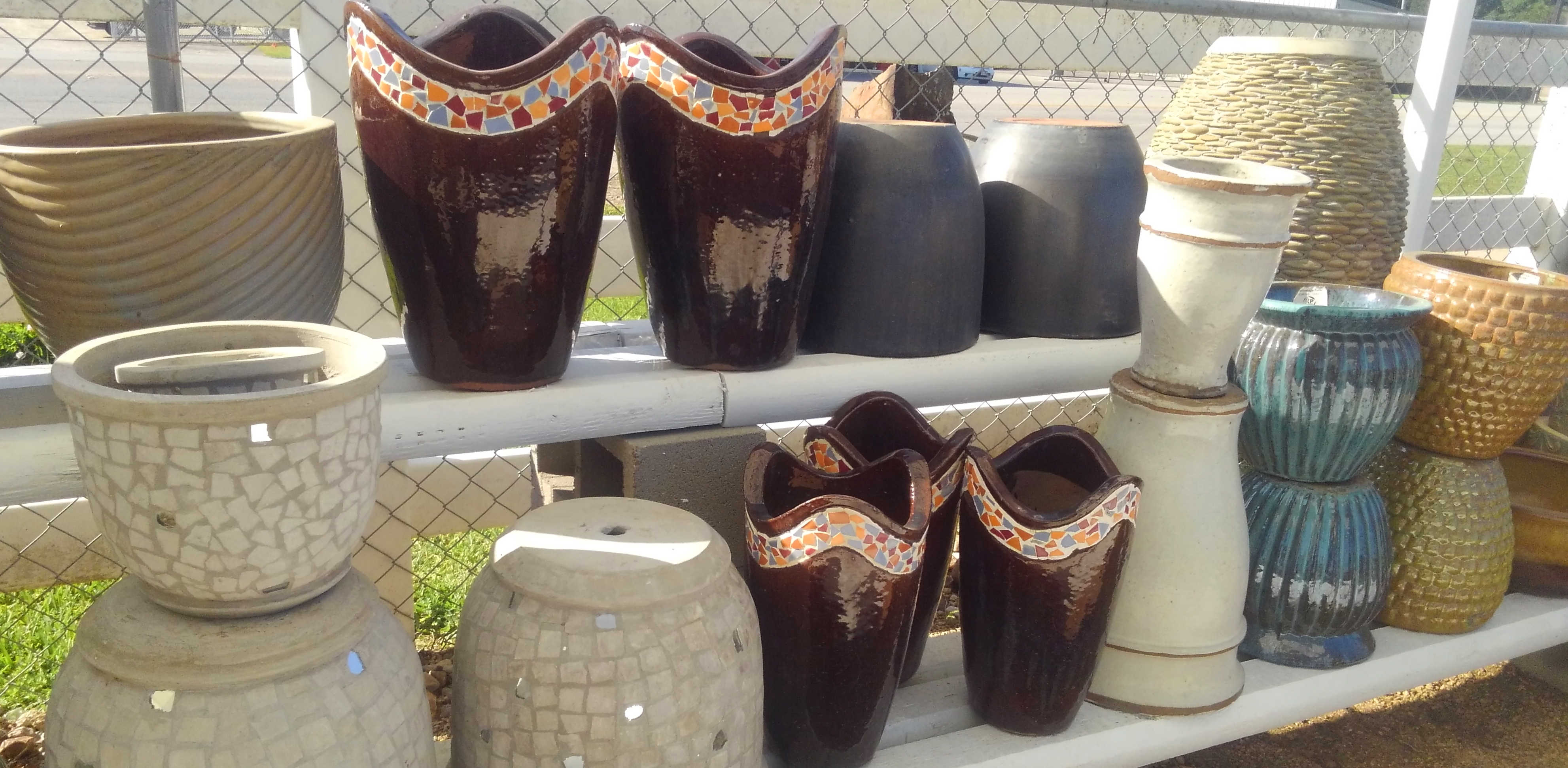 Pottery and Supplies and more at J&J Nursery, Spring, TX.