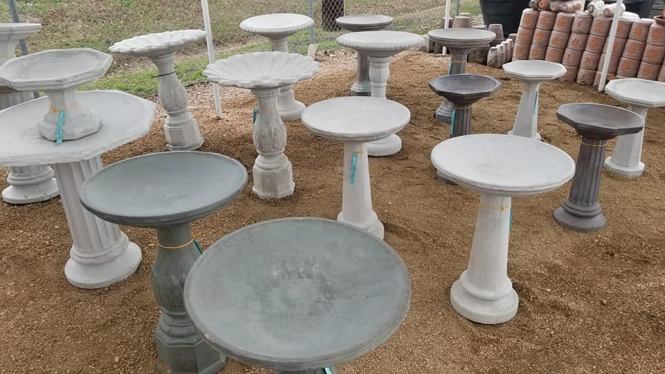 Cement Birdbaths at J&J Nursery, Spring, TX