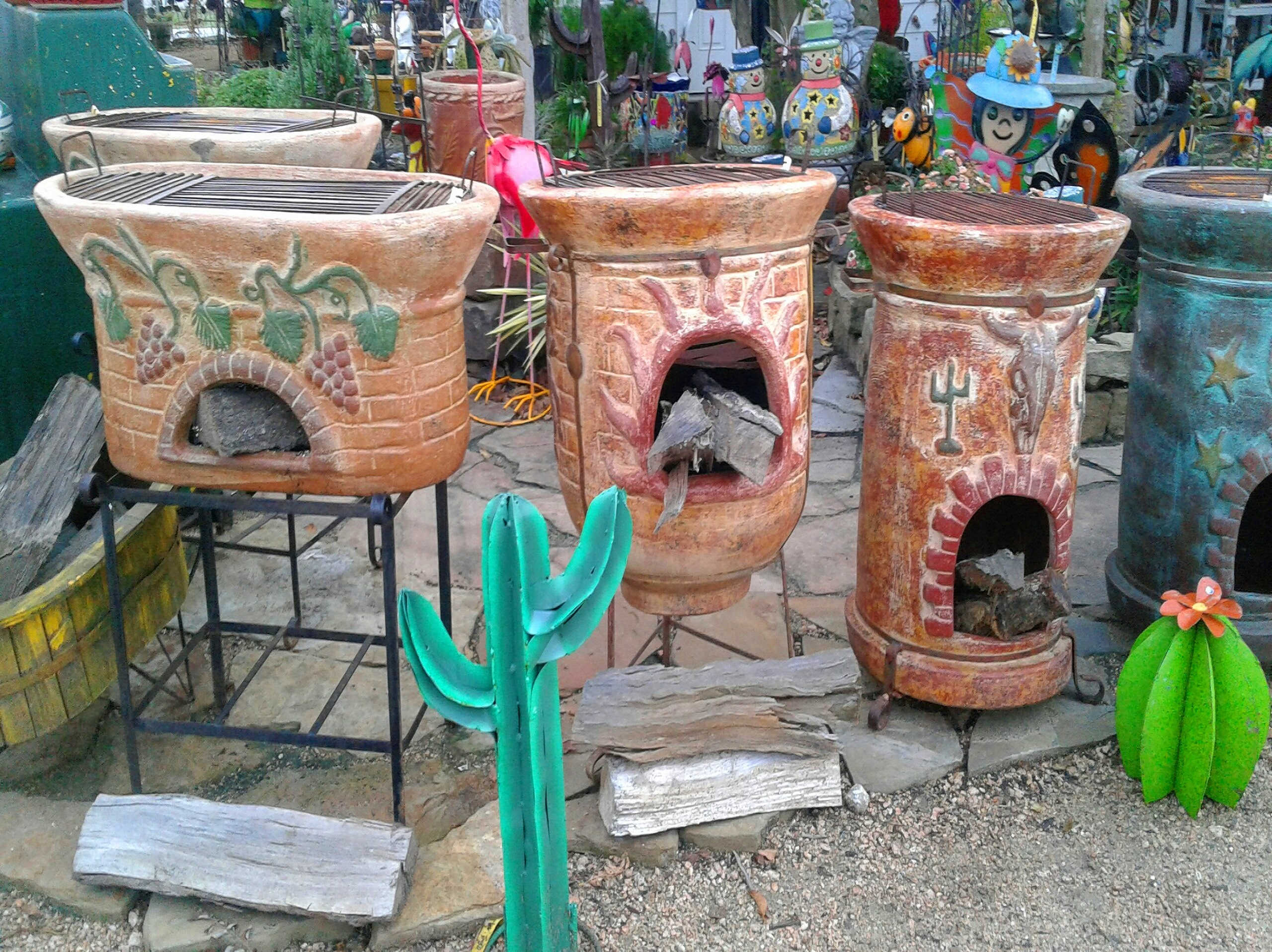 Outdoor Pottery at J&J Nursery, Spring, TX
