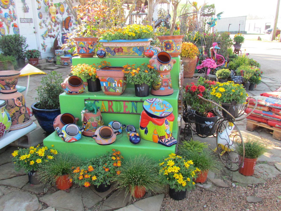 Talavera pottery at J&J Nursery, Spring, TX
