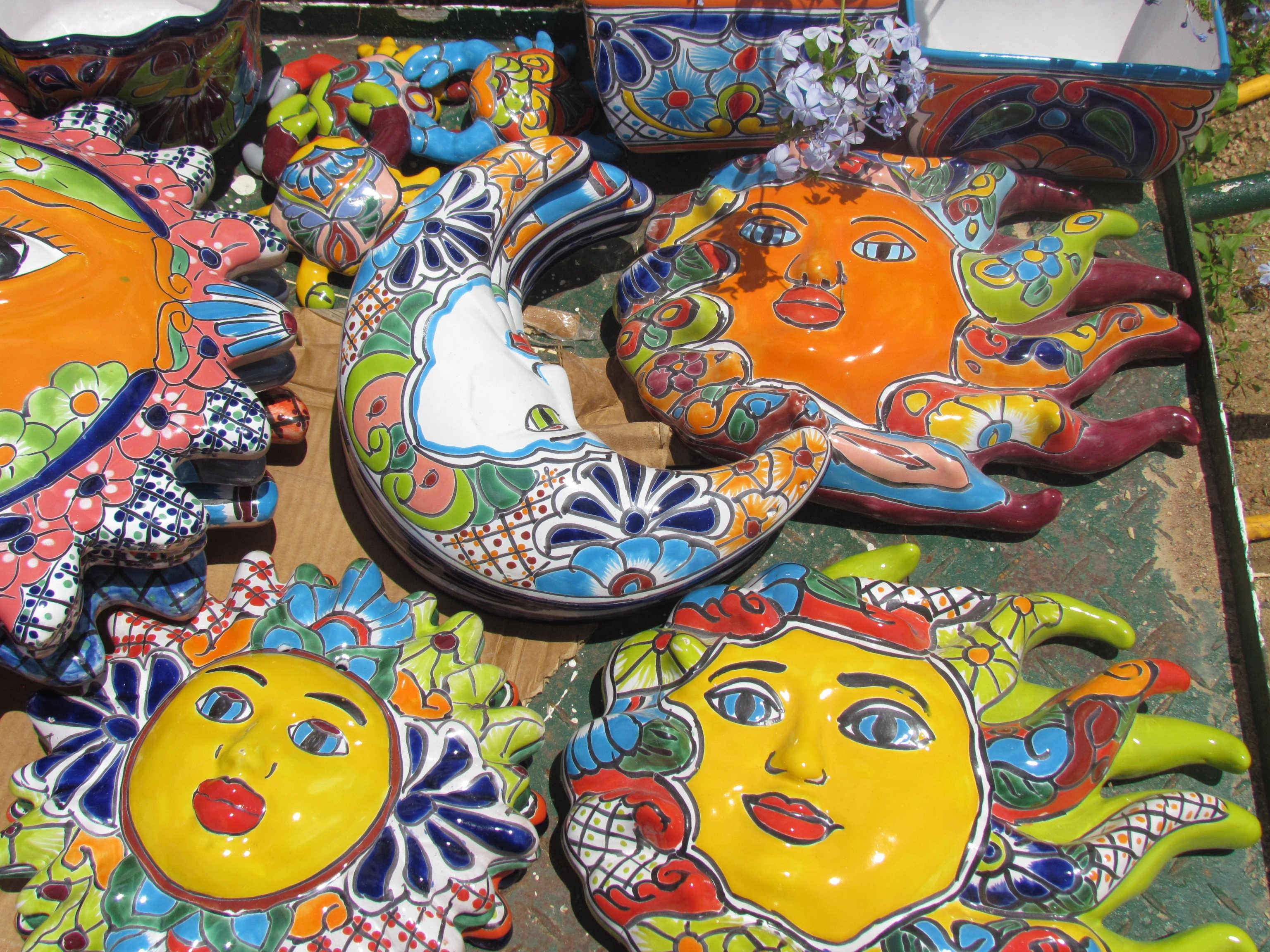 Talavera yard decor at J&J Nursery, Spring, TX