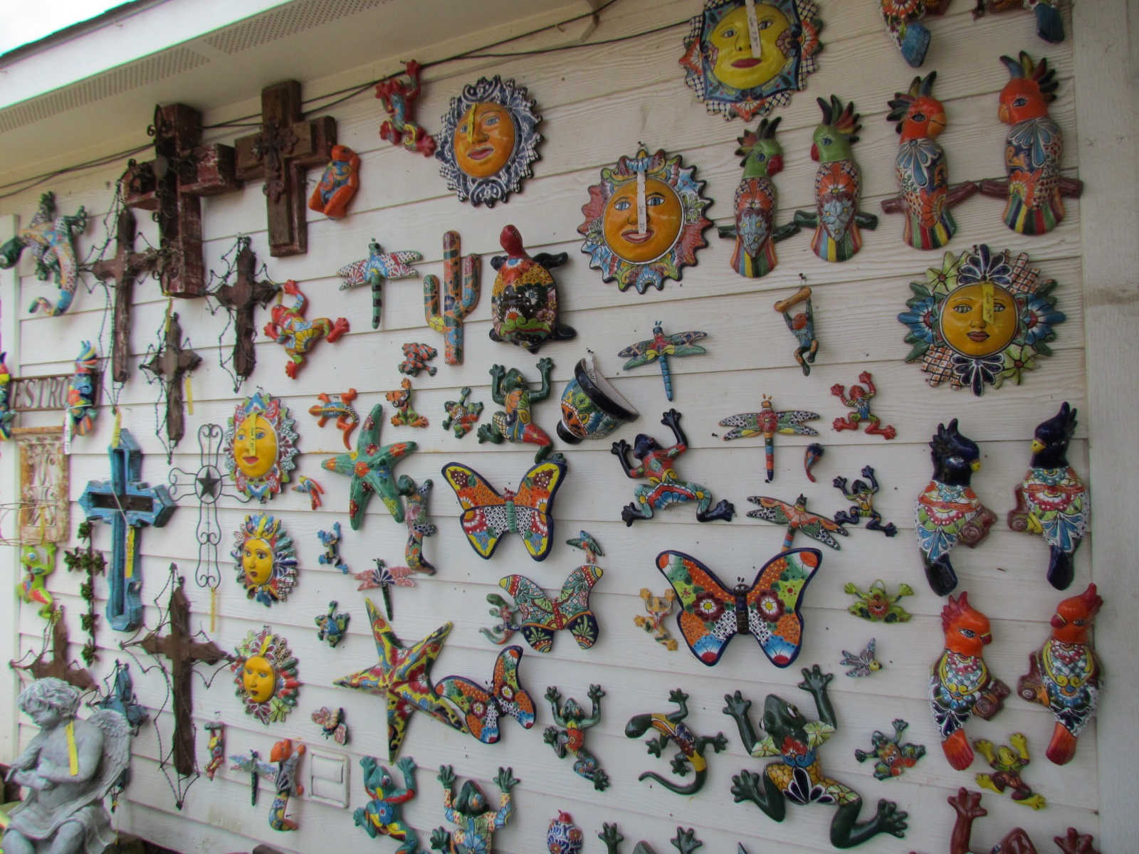 Talavera art at J&J Nursery, Spring, TX